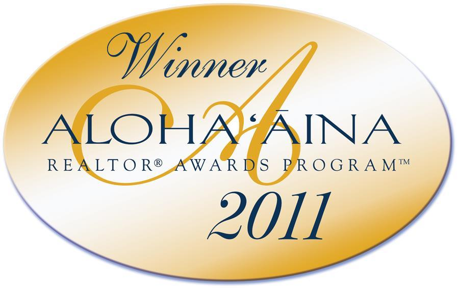 Winner Aloha Aina Realtor Awards Program 2011
